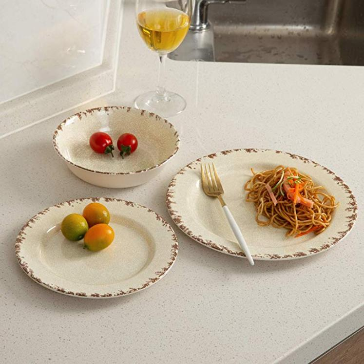 Melamine Dinnerware pcs Outdoor Dinner Plates NEW BEST