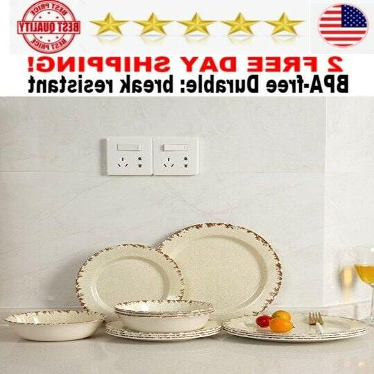 melamine dinnerware set 12 pcs outdoor use