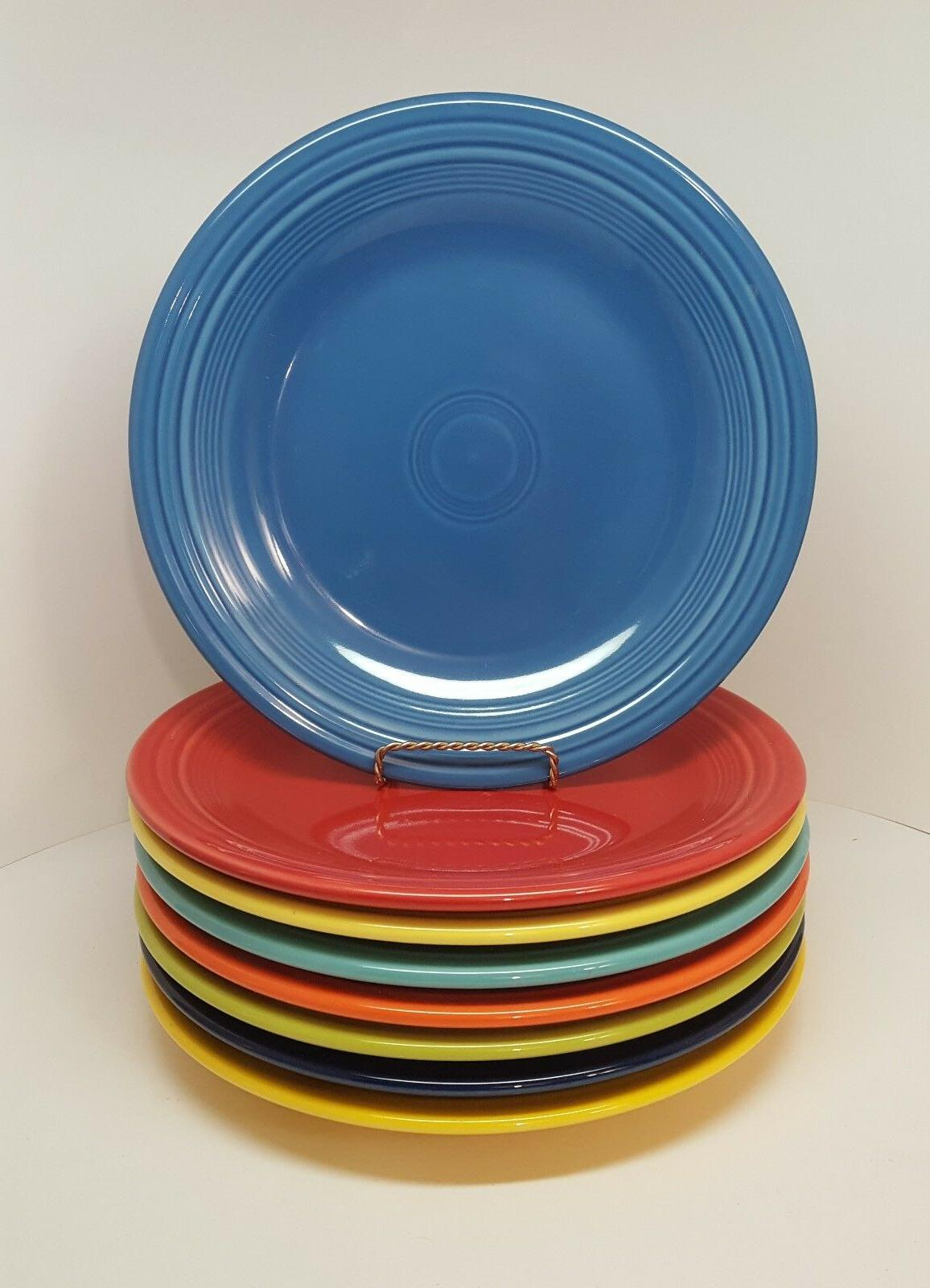 mixed colors dinner plate lot of 8