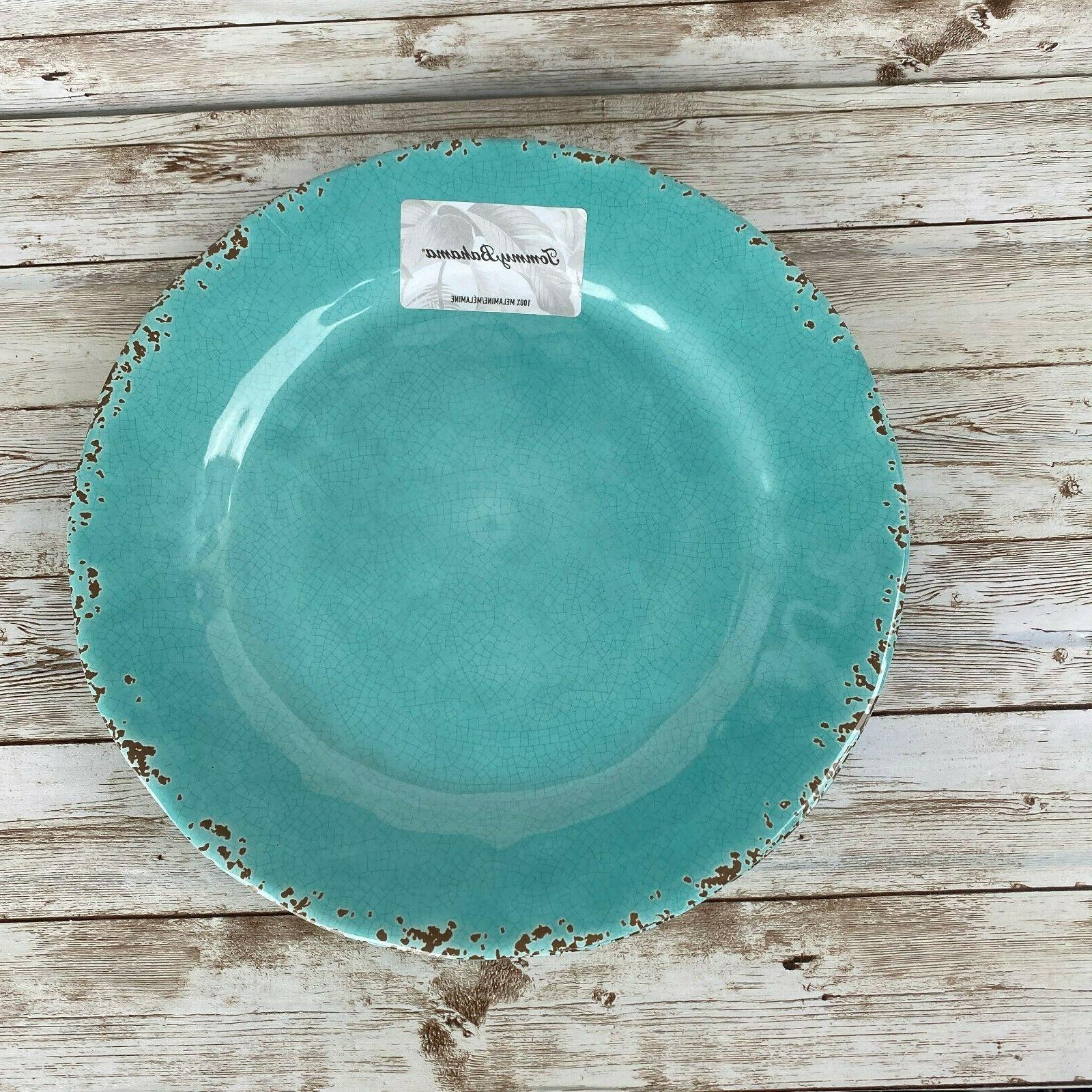 New Tommy Melamine Aqua Blue Crackle Plates of 2