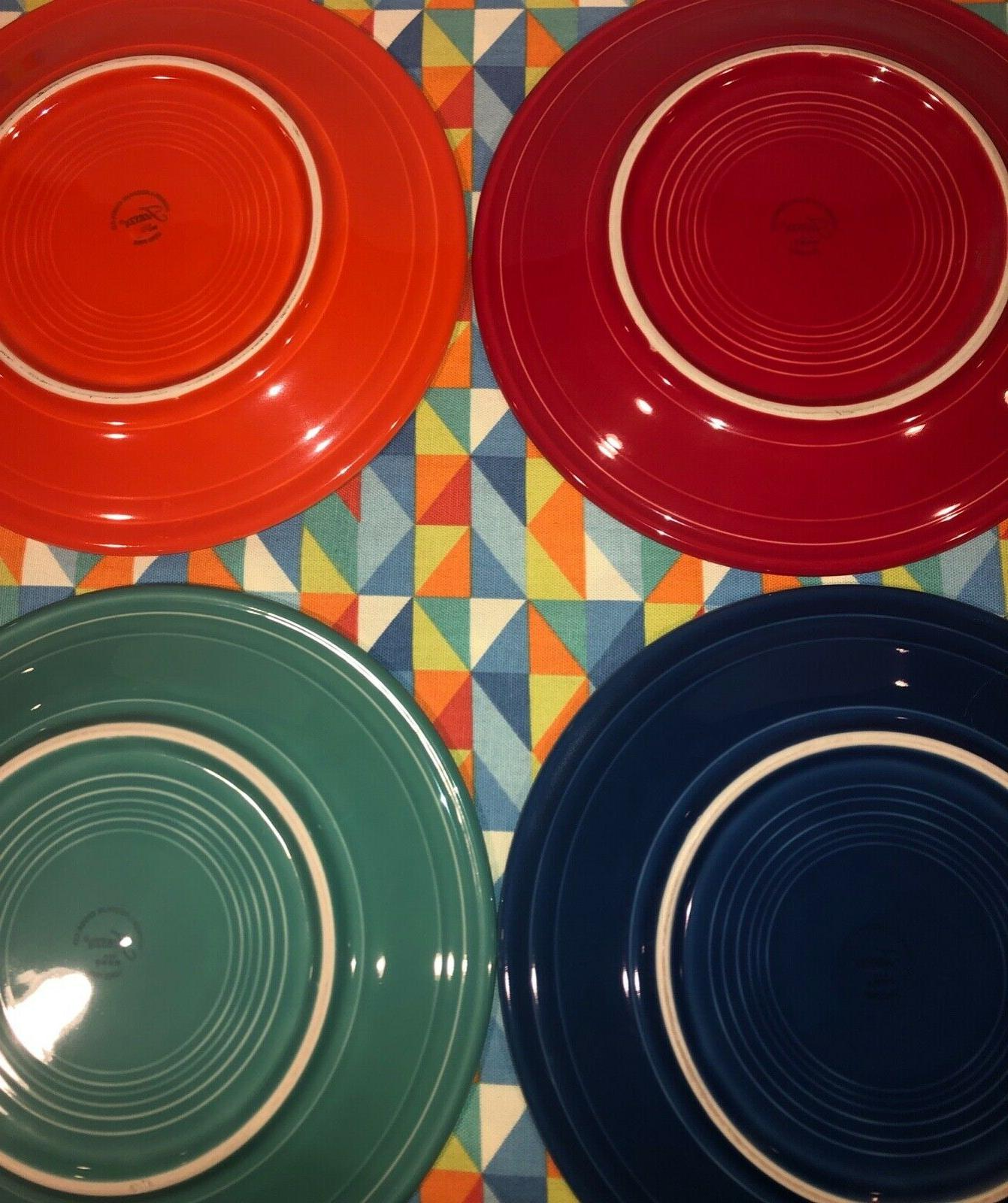 NEW BRIGHT MIXED COLOR SET DINNER PLATES SHIPPING