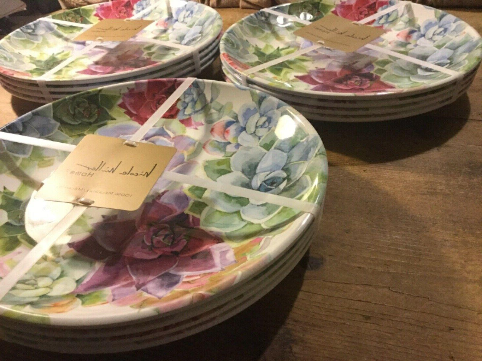 "NEW Melamine Dinner Of Plates 11"" Bloom"