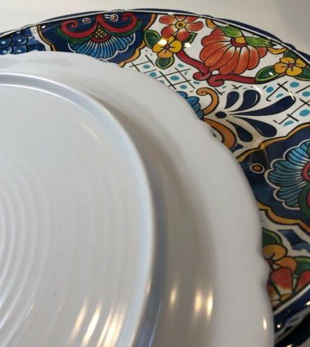 Floral Spanish Plates Set of 4