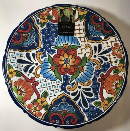 new melamine floral round dinner red spanish