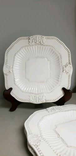 NEW~Set of 3~Dinner Plates American Atelier At Home Baroque