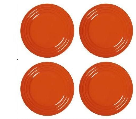 new set of 4 double ridge orange