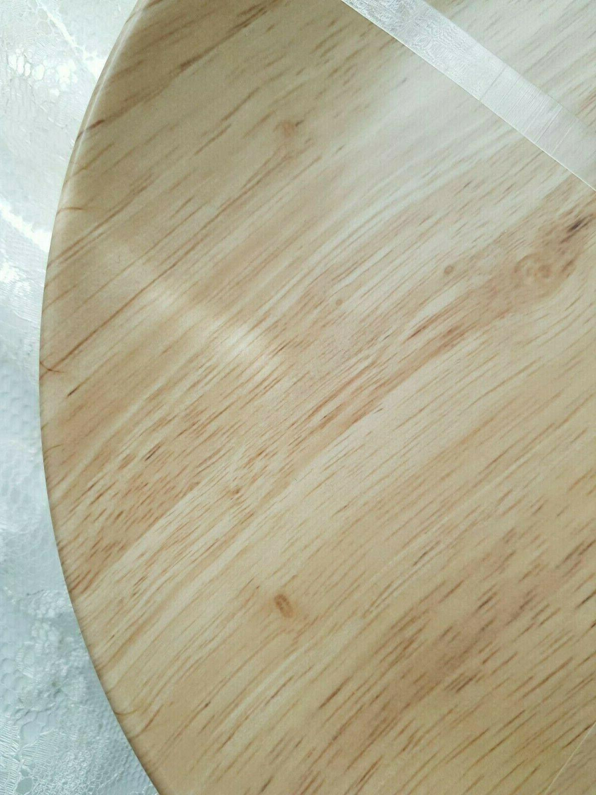 NWT 4PC Wood Dinner Plates- Outdoor