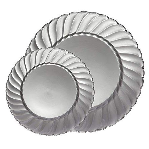 plastic dinnerware set flairs collection