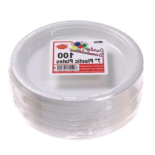 Party Count Plastic Plate, White, Club