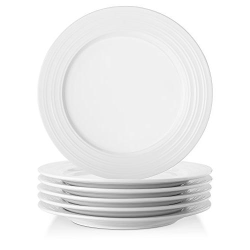 Porcelain Dinner with Ring Rim, Round&Natural Set 6