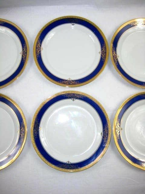 Royal Plates 6 White Blue Gold in