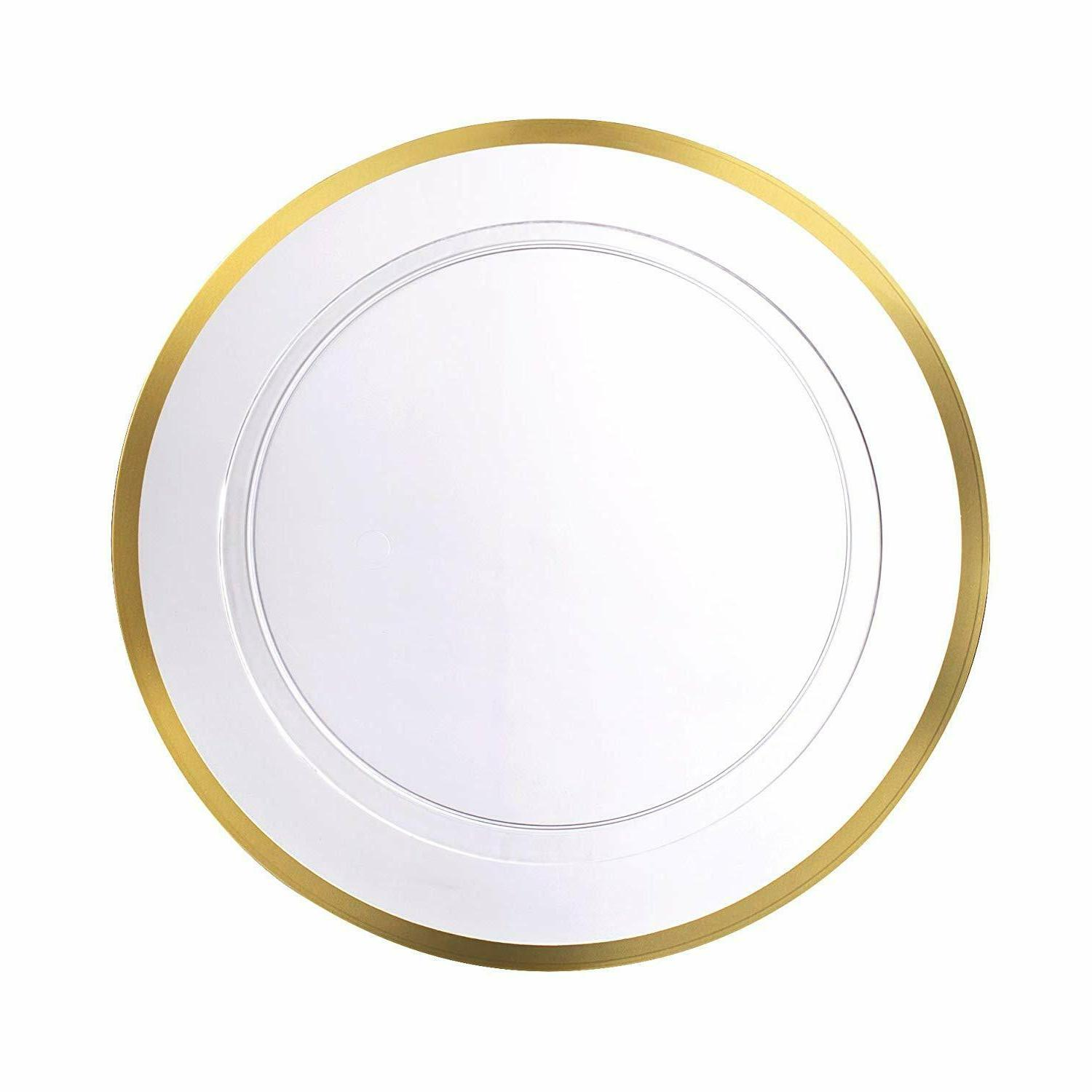 Premium weight Clear Plastic Plates 40Pk