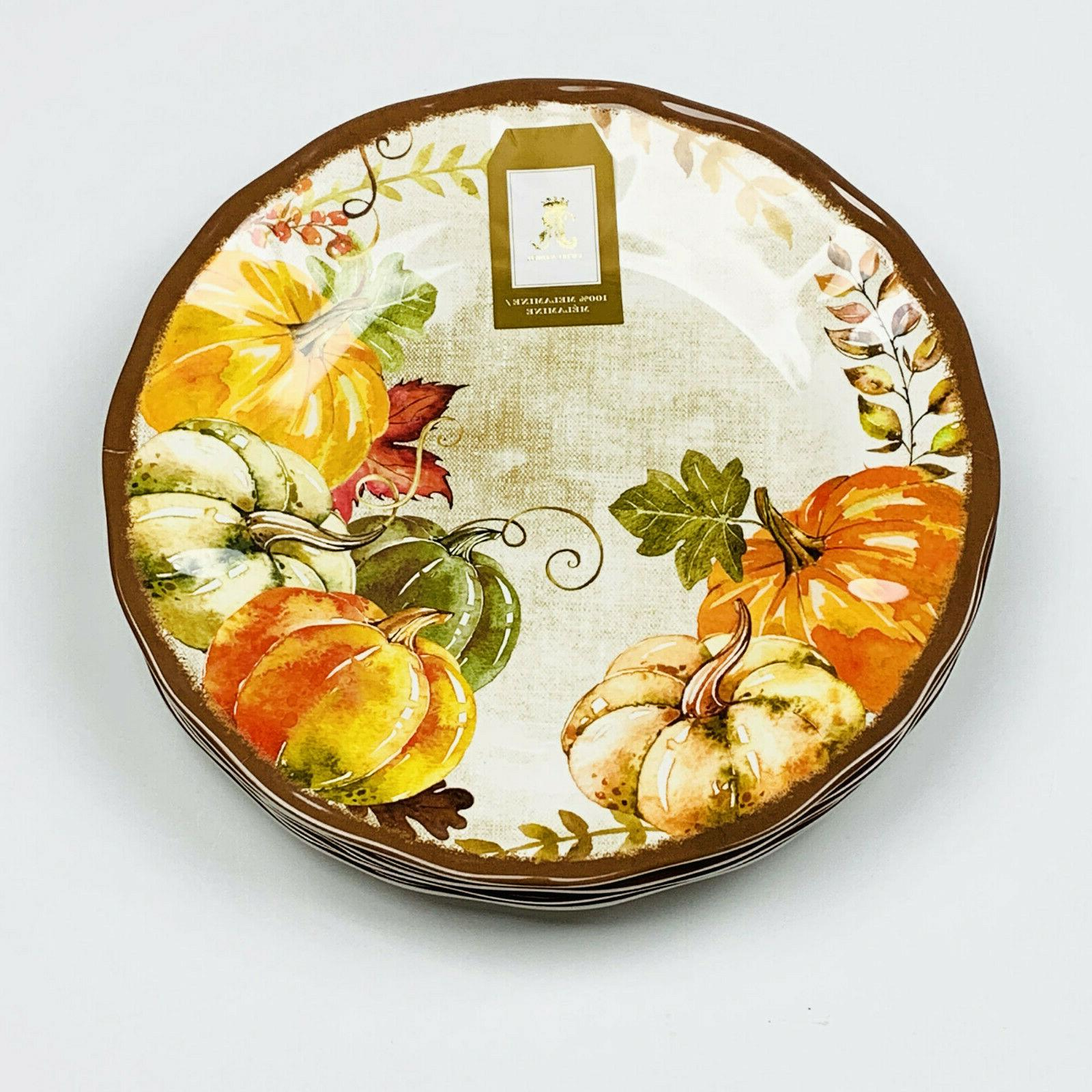 pumpkin harvest autumn fall 11 melamine dinner