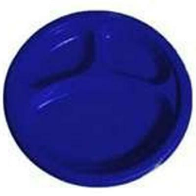 reusable round divided party plates