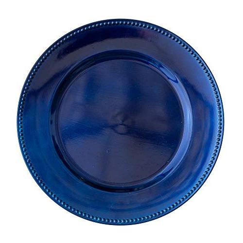 round acrylic beaded charger plates