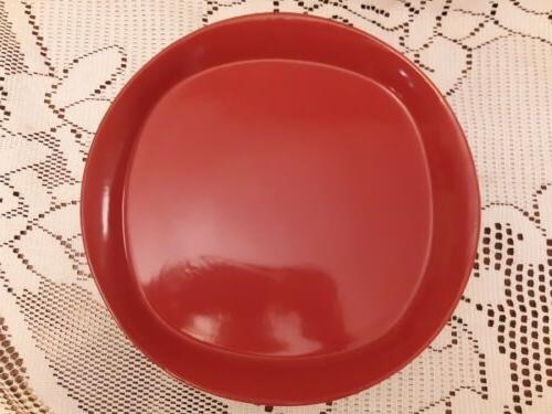 round and square red set of 4