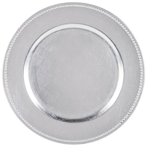 round charger beaded dinner plates