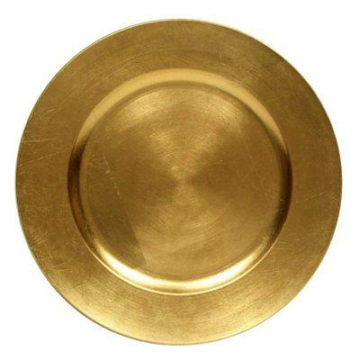 round charger dinner plates gold 13 inch