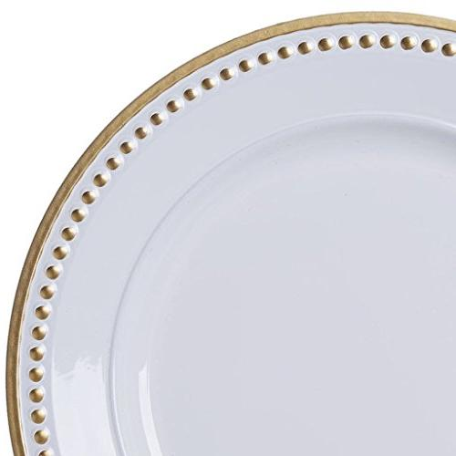 "Efavormart 13"" Gold Acrylic Plates Servers Dinner Chargers for Table Decor - Set of"