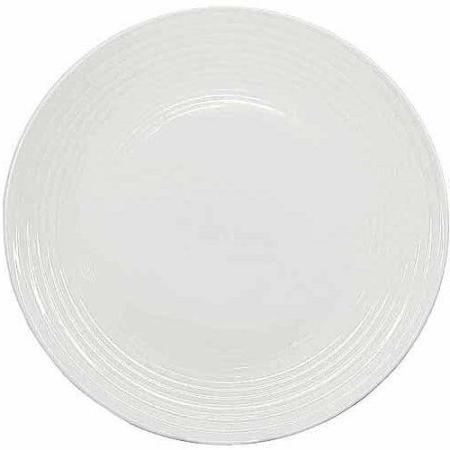 round ribbed dinner plates