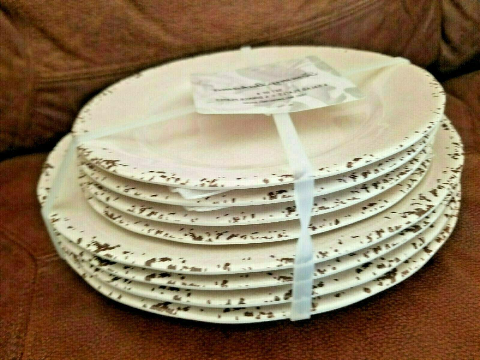 TOMMY RUSTIC MELAMINE 4 4 SALAD FREE SHIPPING
