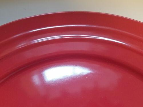 """Set of Ray RED Double Dinner 11"""" New"""