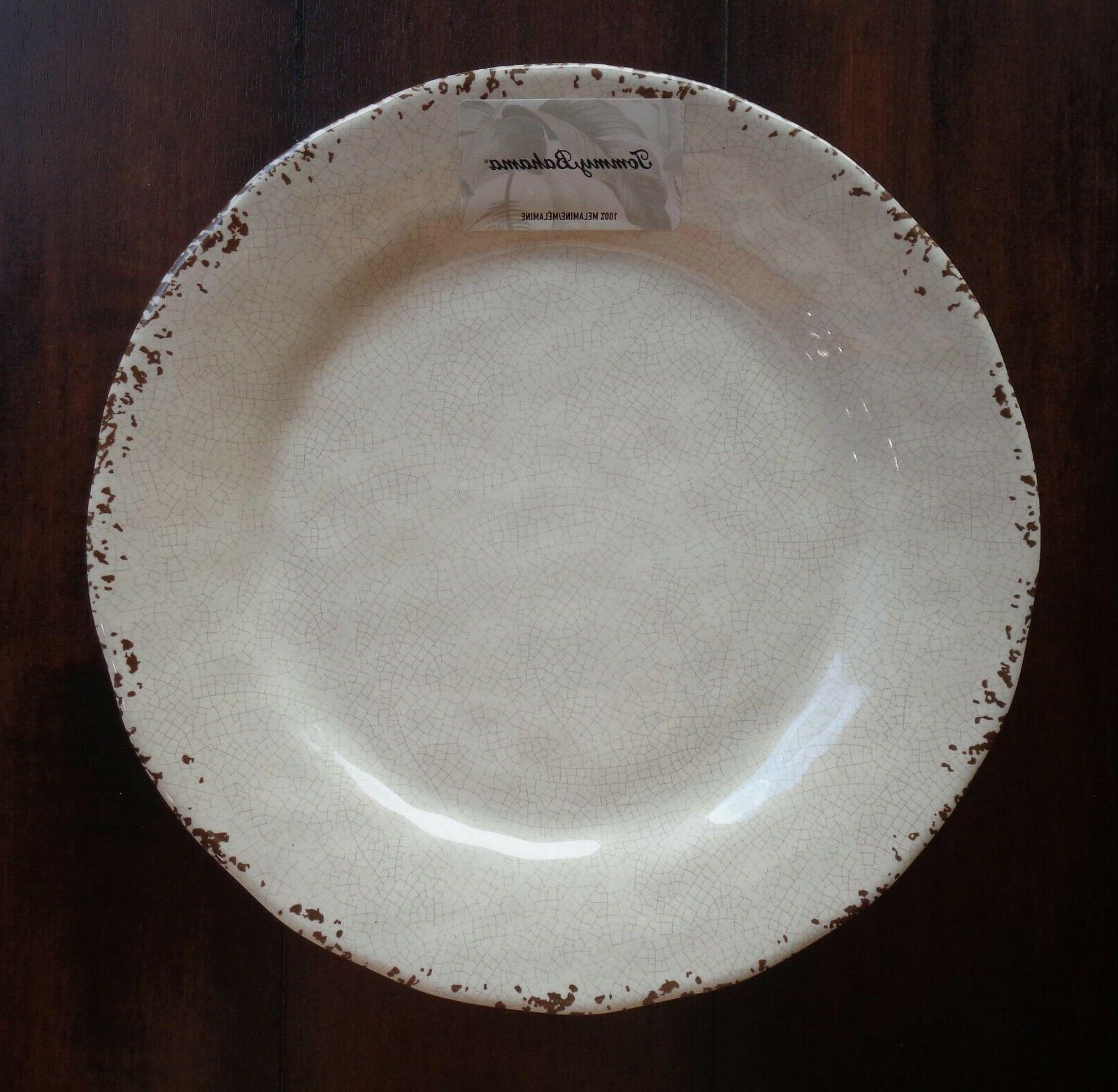 SET of Bahama Dinner Plates Cracked NEW