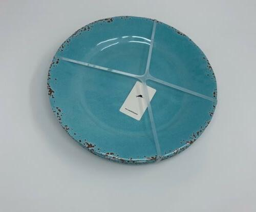 Tommy 4 Blue Crackle 11' Plates New