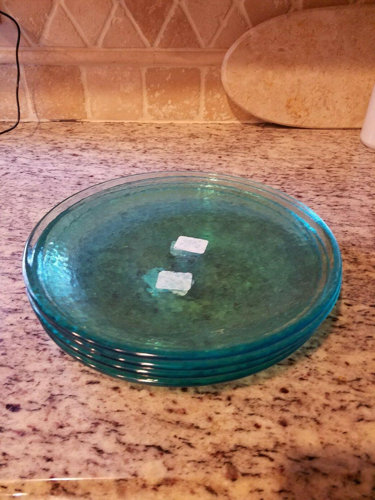 POTTERY BARN SET 5 TURQUOISE OUTDOOR DINNER