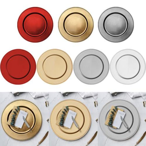 set of 6 charger plates round decorative