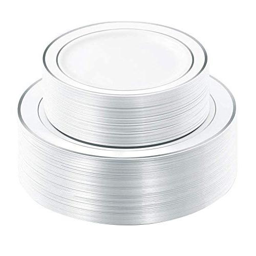 silver plastic plates disposable