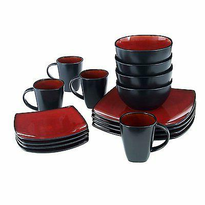 Gibson Soho Square Set, Red