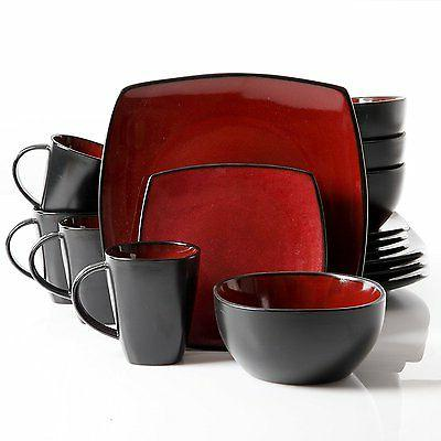 Gibson Soho Lounge 16Piece Set, Red