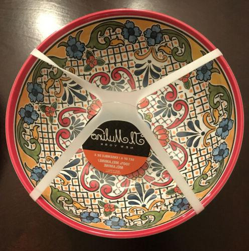 Il Spanish MELAMINE Dinner Plates Bowls, 8-Piece, NEW