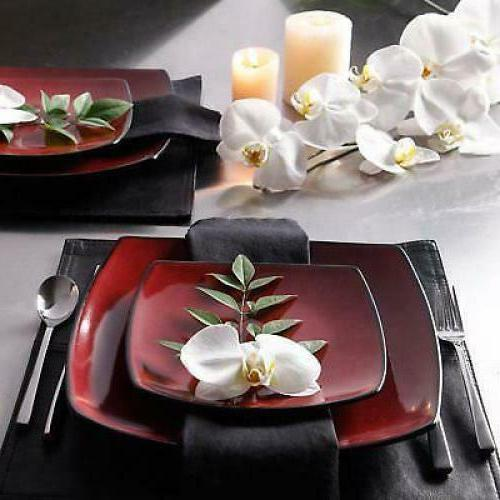 Square 16 Piece Dinner Cups Stoneware