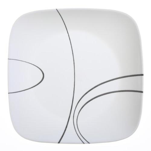 square simple lines dinner plate