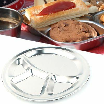 Stainless Steel Sections Round Dinner Plate