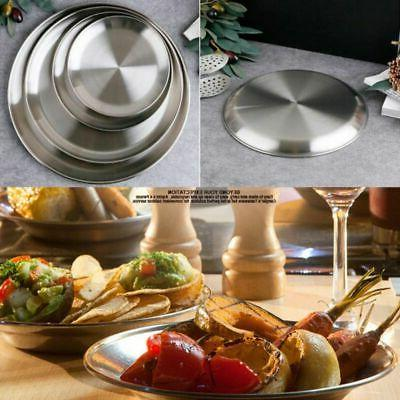 Stainless Steel Round Dinner Picnic