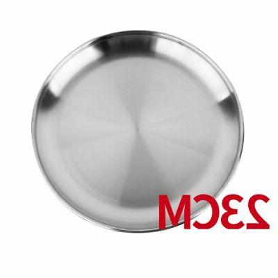 Stainless Steel Dish Round Food Dinner