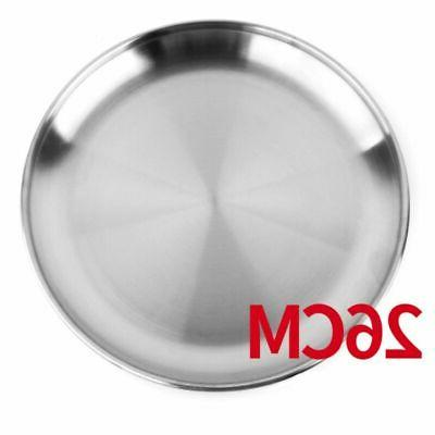 Stainless Round Plates Dishes Metal
