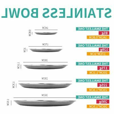 Stainless Dishes Dinner Plate Metal Plates Tableware