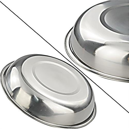 Morcte Stainless Steel Plates for Dinner BBQ, of