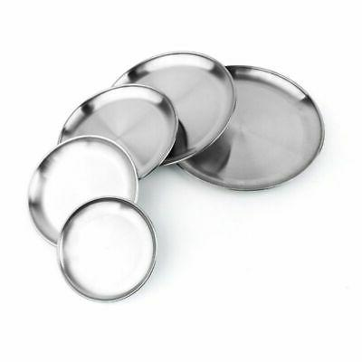 Stainless Plates Dishes Dinner Tableware Plate Picnic