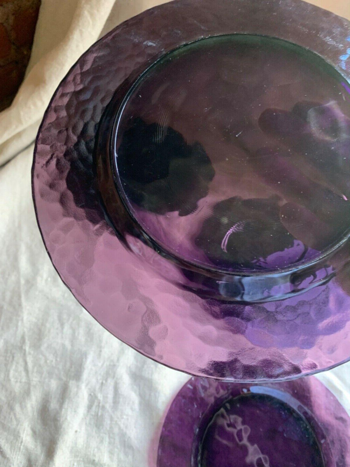 Studio Bormioli Amethyst Plate Set Of