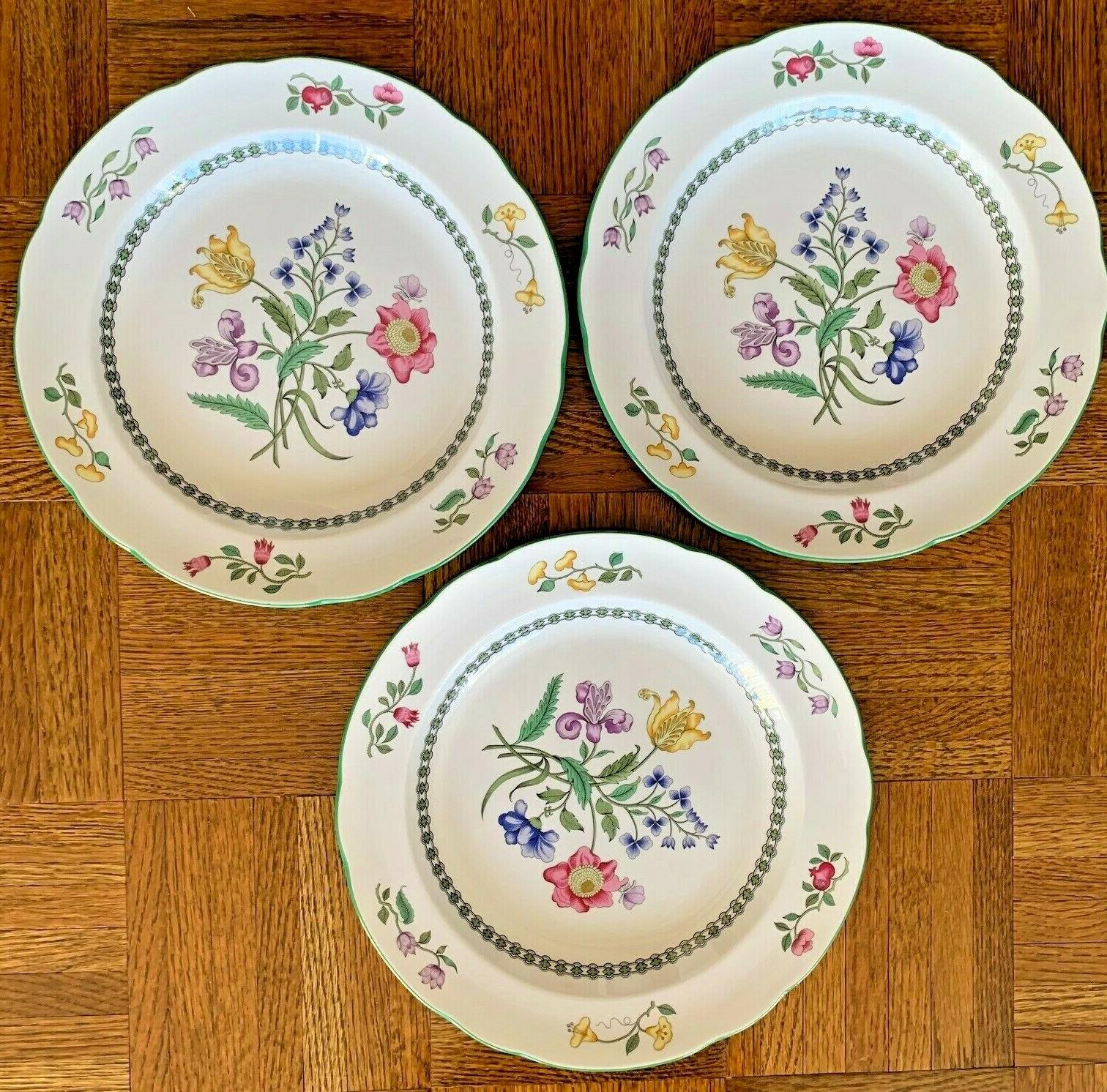 Spode Summer Palace Dinner Plates Stoneware