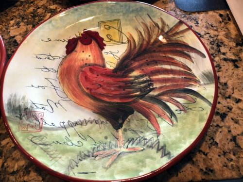 """Dinner Plates Le Rooster 11"""""""