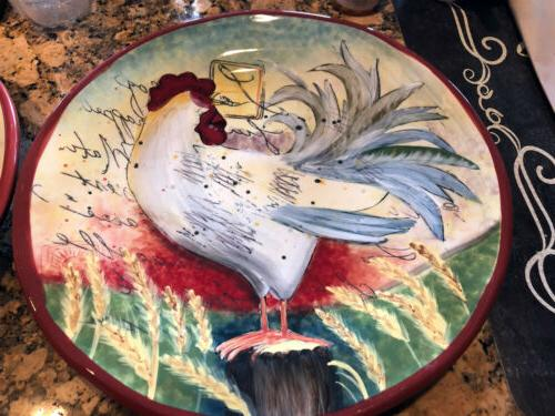 Susan Dinner Ironstone Rooster