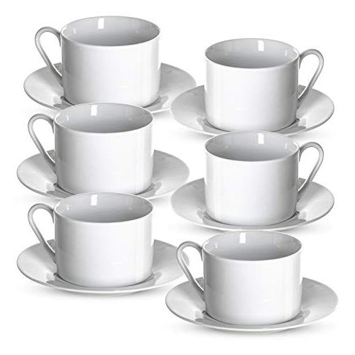 tea cups saucers set white