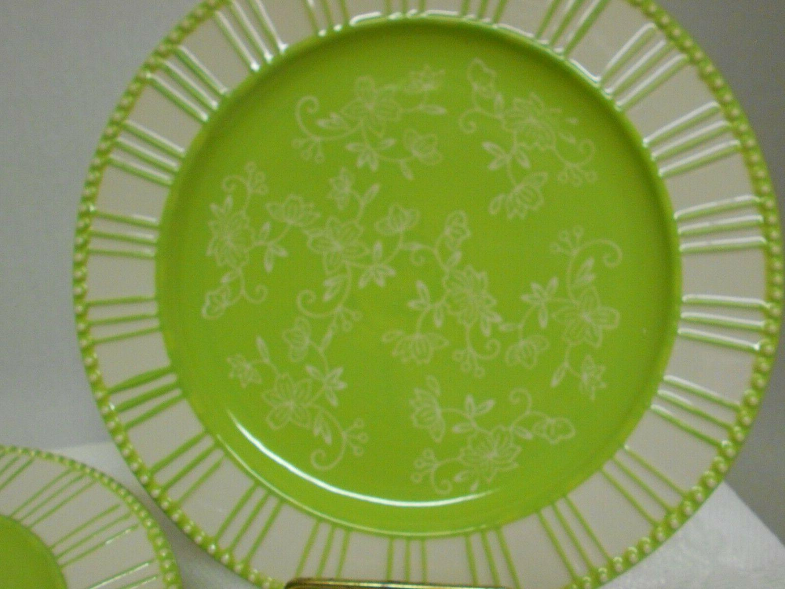 Floral Lace - green Dinnerware