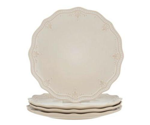 The Pioneer Woman Farmhouse Lace Dinner Set of White Linen